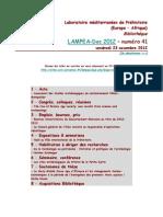LAMPEA-Doc 2012 – numéro 41 / vendredi 23 novembre 2012