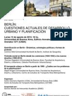 Jornada - Planificacion Berlin - 13 de Agosto 2012.