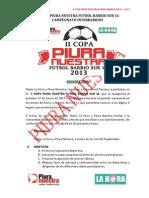Bases II Copa Piura Nuestra Futbol Barrio Sub 16