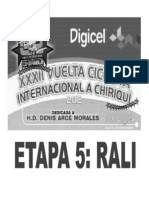 Clasificaciones Oficilaes 5ta Etapa CRE Vuelta a Chiriqui