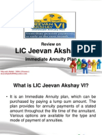 Review on LIC Jeevan Akshay VI