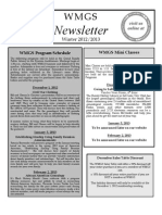 WMGS Newsletter Winter 2012-13