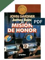 Gardner John - Mision de Honor (007)