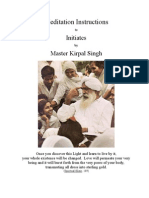 Meditation Instructions by Kirpal Singh