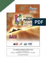 Clasificaciones Oficiales Etapa 6 Vuelta Al Mundo Maya