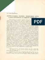 Dr. Ferdo Hauptmann - AU Politika, Trojecarski Savez i Tajna Konvencija Sa Srbijom Godine 1881