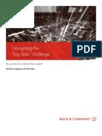 BAIN BRIEF Navigating the Big Data Challenge