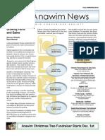The Anawim News Fall/Winter 2012