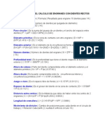 Formulas Para El Calculo de Engranes Con Dientes Rectos