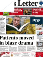 Belfast News Letter front page Saturday November 24, 2012