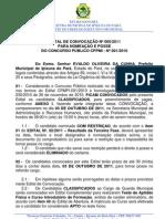 Edital 05-2011 Nomeacao e Posse