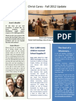 Christ Cares Fall Newsletter 2912, pg 1