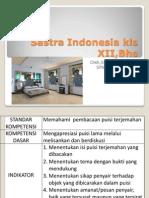 Materi Sastra Indonesia 1 Kls XII,Bhs