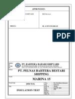 Insulation Test Marina 15