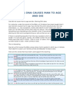 ALTERING DNA CAUSES MAN TO AGE AND DIE