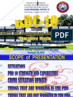 PNP Report to the Northern Mindanao Regional development Council November 2012