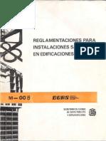 Reglamentaciones Para Instalaciones Sanitarias en Edificaciones