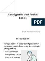 Aerodigestive Tract Foreign Bodies