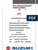 Enviornmental Analysis of Pak Suzuki Motor Company