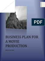 Business Plan for a Movie Production Template