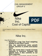 nike inc cost of capital study Nike case study professor corwin  in this problem, you will calculate the cost of equity and weighted average cost of capital for nike as of may 31, 2015.