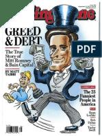 Mitt Romney - Greed & Debt