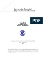Bank Lending Channel of Monetary Transmission in Indonesia