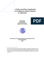 Monetary Policy and Firm Investment in Indonesia