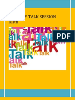 Tuesday Talk Session Xiith