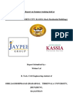 A CIVIL ENGG. FINAL YEAR TRAINING REPORT  ON RESIDENTIAL BUILDING CONSTRUCTION.