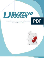 Corporate Professionals_ Delisting Dossier_June 2012