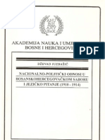 Dzevad Juzbasic - Nacionalno-Politicki Odnosi u Bosanskohercegovackom Saboru i Jezicko Pitanje (1910-1914)