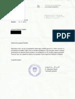 dopis predsednika ustavnega sodišča rs 20.11.2012