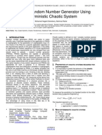 Pseddo Random Numbers Generator Using Deterministic Chaotic System