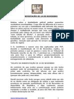 RELATO DA MANIFESTAÇÃO DE 14 DE NOVEMBRO