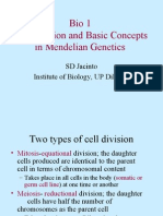 Cell Division & Basic Concepts in Mendelian Genetics