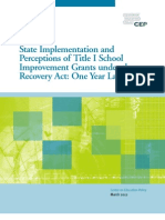 State Implementation and Perceptions of Title I School Improvement Grants under the Recovery Act