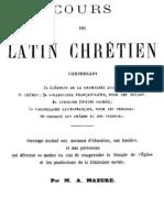 Cours de Latin Chretien