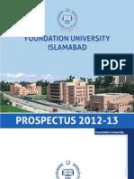 Foundation University Prospectus 2012