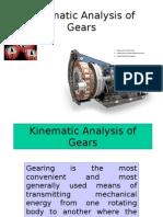 Kinematic Analysis of Gears