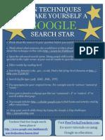 Techniques Google Search Star