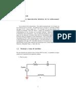 Anexo para el estudio sobre las resonancias en circuitos eléctricos RLC