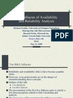 10 Falacias Fiabilidad-Disponibilidad