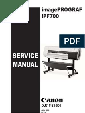 canon ipf 710 service manual   Printer (Computing