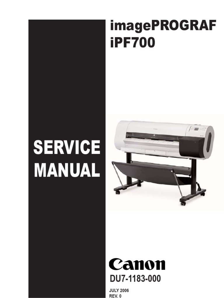 canon ipf 710 service manual | Printer (Computing) | Electrical Connector