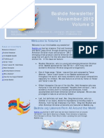 Bashde Newsletter Volume 3 November 2012