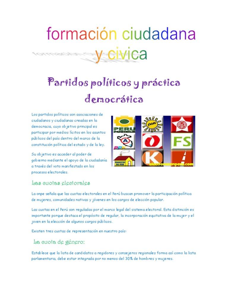 Partidos Politicos y Practica Democratica
