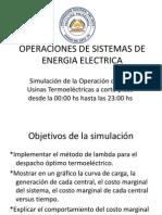 Operaciones de Sistemas de Energia Electrica