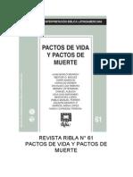 Ribla 61 - Pactos de Vida y Pactos de Muerte