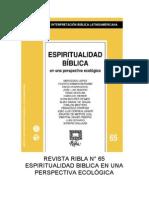 Ribla 65 - Espiritualidad Biblica en Una Perspectiva Ecologica